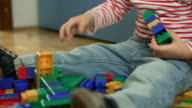 Little Boy Playing With Blocks video