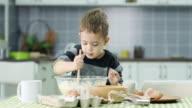 Little boy prepare food video