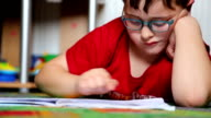 Little boy reading video