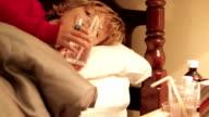 Little Boy Sick In Bed video
