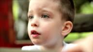 Little boy. Slow motion video