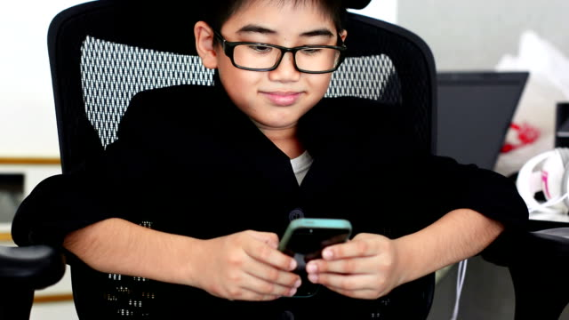 Little boy using tablet video