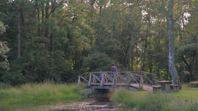 Little Boy Walks With Grandmother In Nature video
