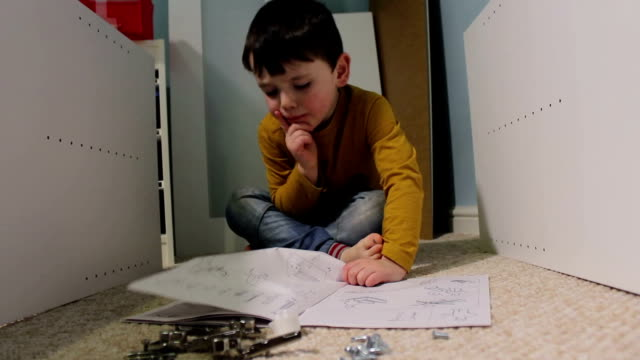 Little Boy With Dad Learning How To Do It Yourself video