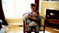 Little boy with mother video