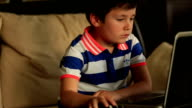 little child with laptop video
