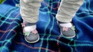 Little feet. Close up video