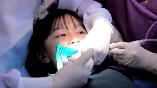 Little Girl At Dentist. video