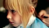 HD: Little Girl At Hairdresser video