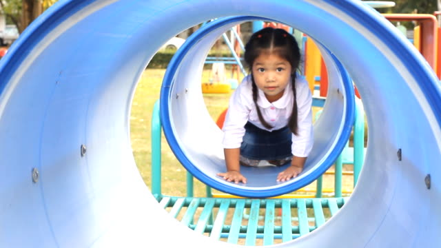 Little girl at the Playground Glidecam video