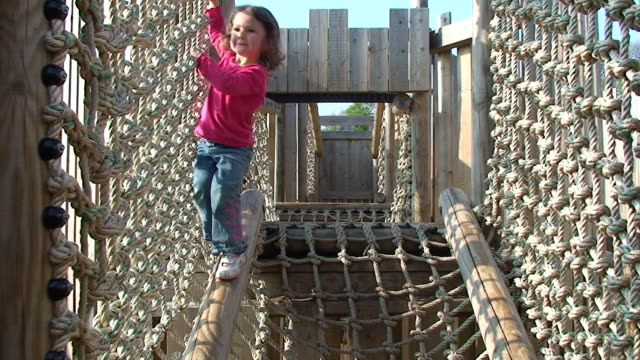 Little girl at the playground video