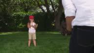 Little girl baseball video