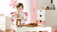 HD DOLLY: Little Girl Building Blocks video