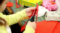 Little Girl Cutting Paper video