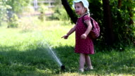 Little girl dabbles with Sprinkle video