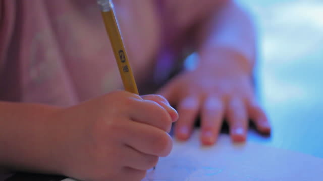 Little Girl Drawing a Picture video