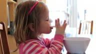 Little Girl Drinks Milk video
