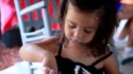 Little Girl Eating Cake video