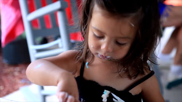 Little Girl Eating Cake video