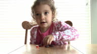 Little girl eating video