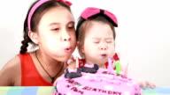 Little Girl Eating Yummy cake. video