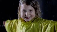 Little Girl Enjoying The Rain video