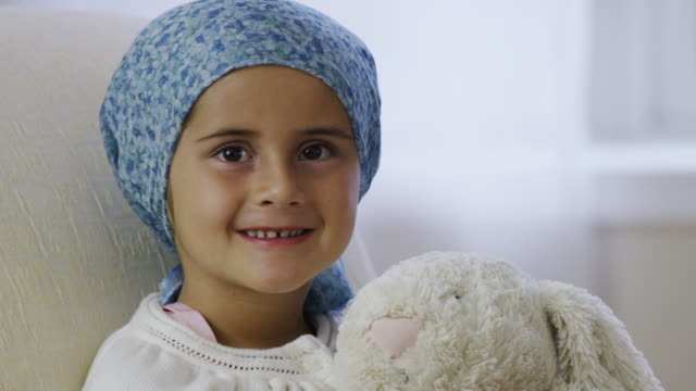 Little Girl Experiencing Cancer Treatment video