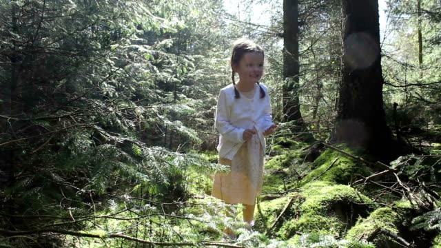 Little Girl Finding A Fairytale Fairy video