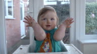 Little Girl Gesturing All The Birthday Cake Has Gone video