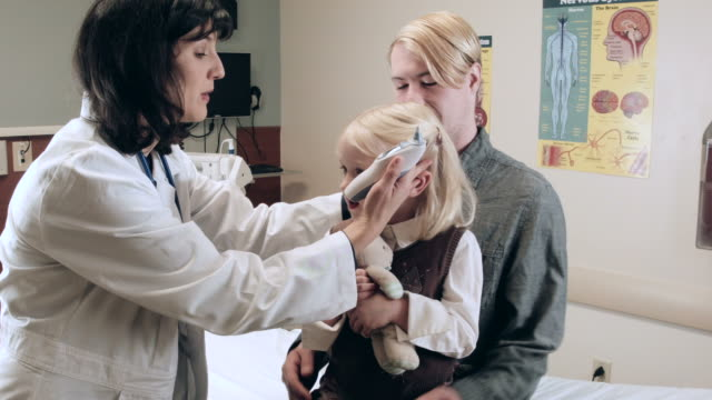 Little Girl Getting Checked In Hospital video