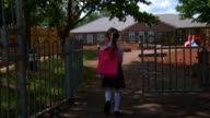 Little girl goes to school #5 - 1080p video