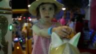 Little Girl Having Fun At The Amusement Park. video