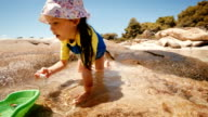 Little Girl Having Fun At The Beach. video