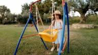 Little Girl Having Fun At The Park. video