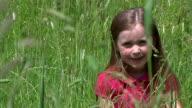 Little girl in meadow video