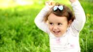 Little girl in the park video