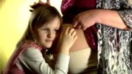 little girl listen abdomen video