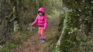 Little girl lost in a rain forest video