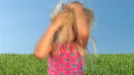 HD: Little Girl Messing Up Her Hair video