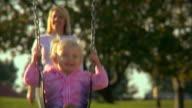 HD Little Girl on swing video