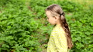 little girl on the nature video