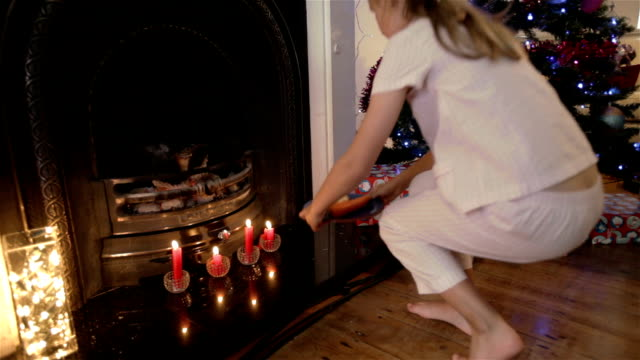 Little girl on the night before Christmas video