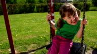 SLOW MOTION: Little Girl on the Swing video