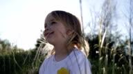 little girl outdoors video
