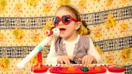 little girl play music video