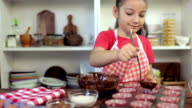 Little Girl Preparing Muffins video