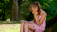 MS DS Little Girl Reading In The Park video