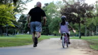 Little Girl Rides Her Bike For The First Time video