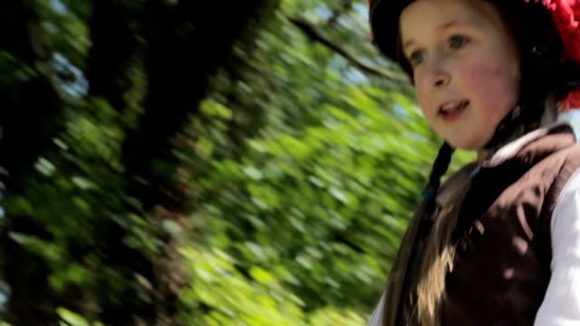 Little girl riding horse video