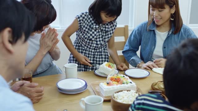 Little Girl Serving Cake video